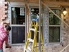 Atlanta Builders and Remodeling installed windows into a brick wall - During